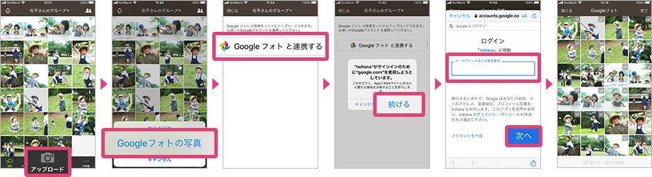 iOSのGoogleフォト連携操作手順