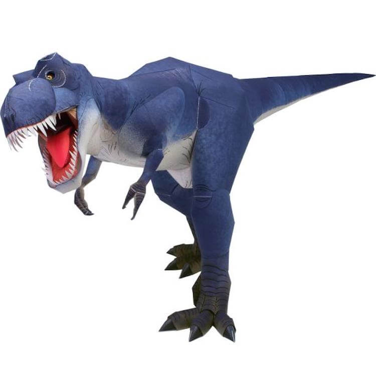 ティラノサウルスのペーパークラフト