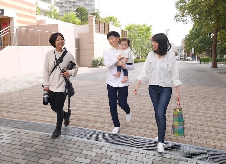 出張カメラマンと家族