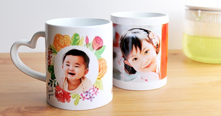 写真つきマグカップ 子どもの写真