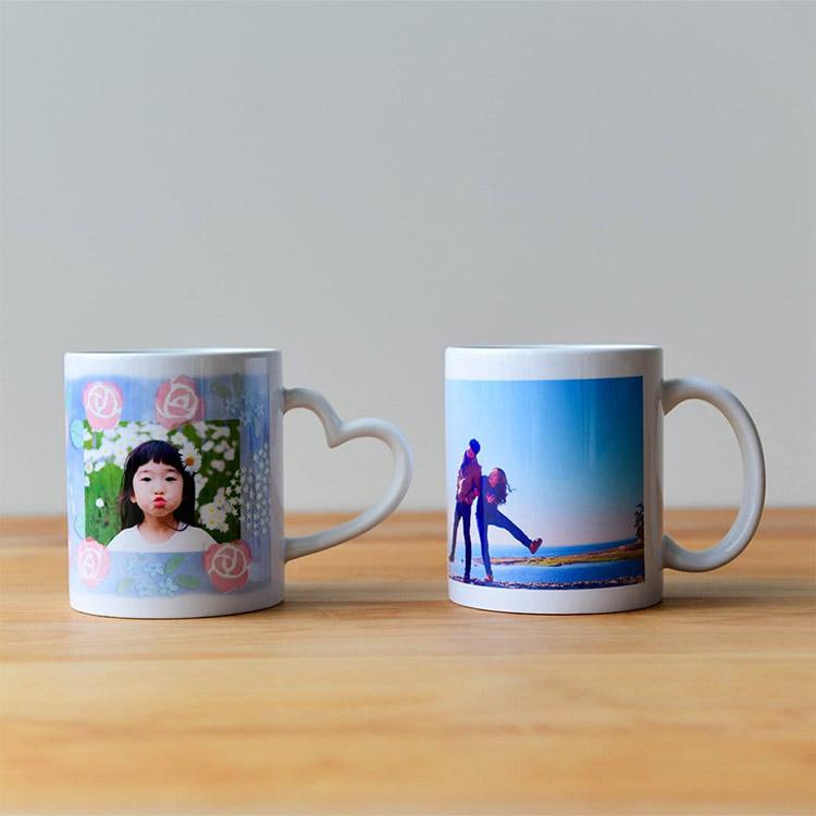 写真つきマグカップ 把手2種類