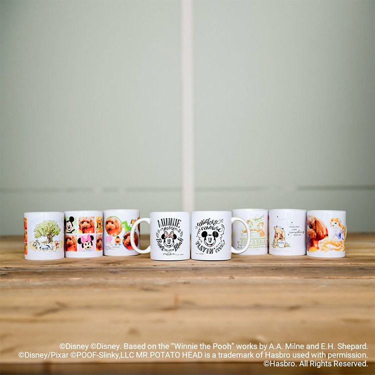 写真つきディズニーマグカップ デザイン全種類