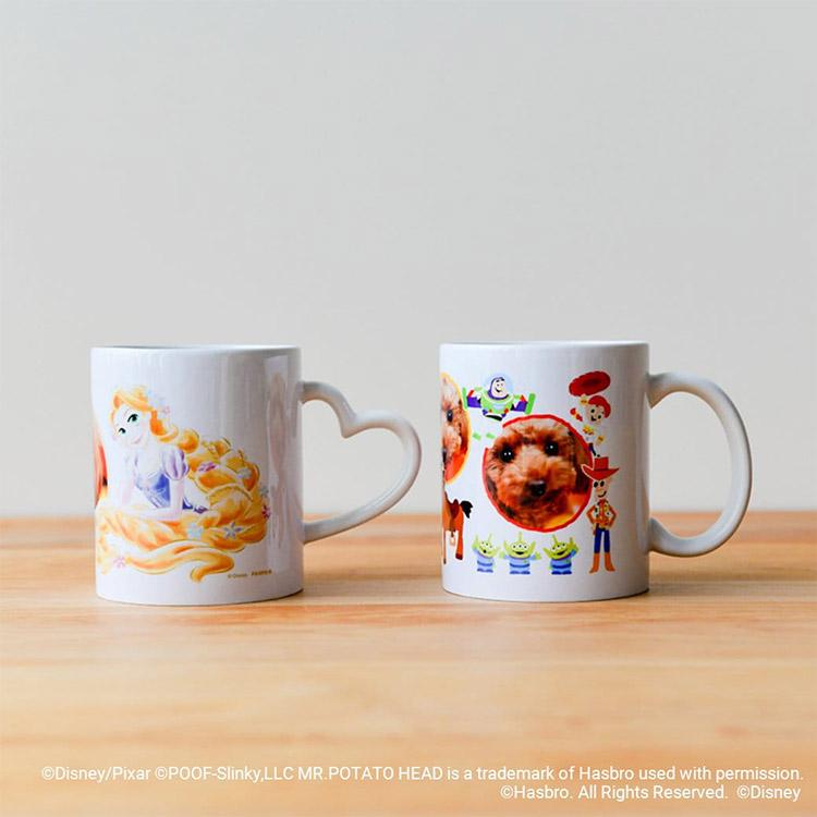 写真つきディズニーマグカップ 把手2種類