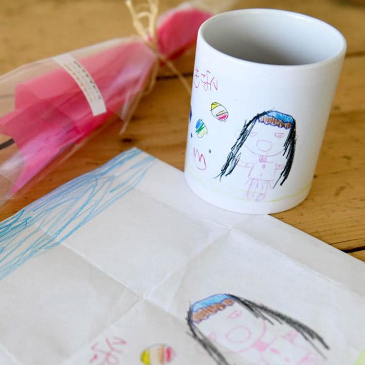 子どものイラスト入りマグカップ