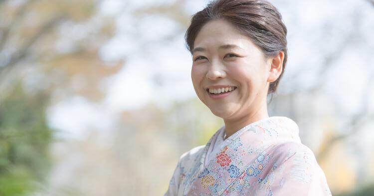 七五三_笑顔のママ