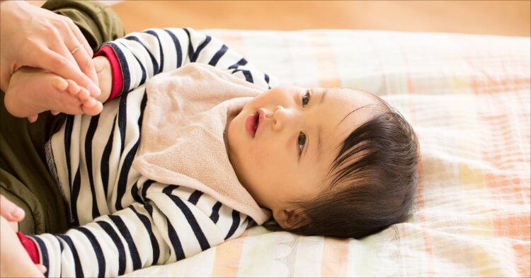 赤ちゃんスタイ_寝てる赤ちゃん