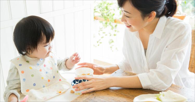 赤ちゃんスタイ_子どもとご飯