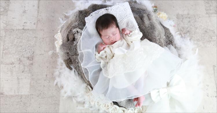 華やかな赤ちゃん