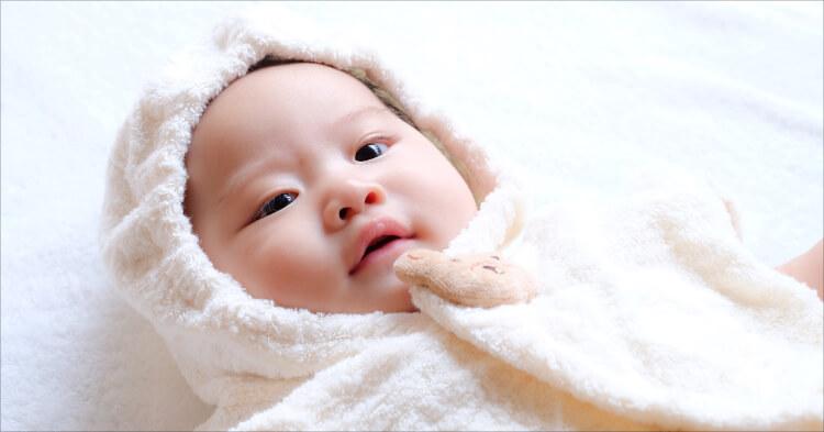 包まれてる赤ちゃん