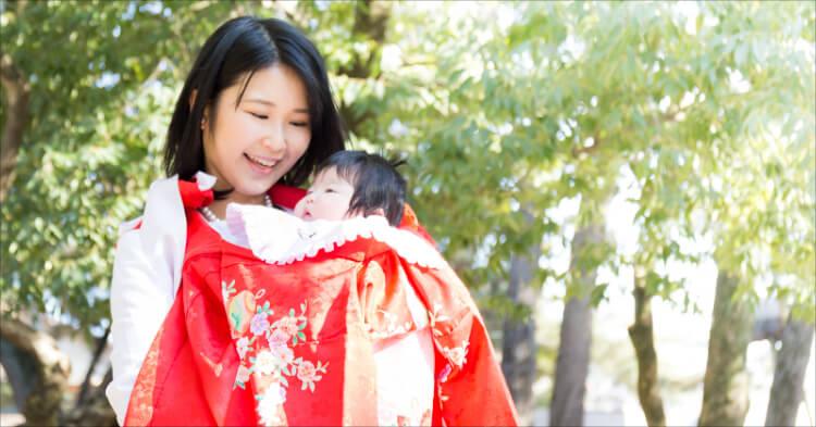 お宮参り_赤ちゃんとママ