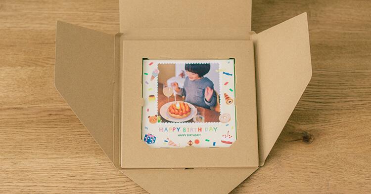 ノハナ2月キャンペーン ギフトボックス 誕生日の女の子の写真