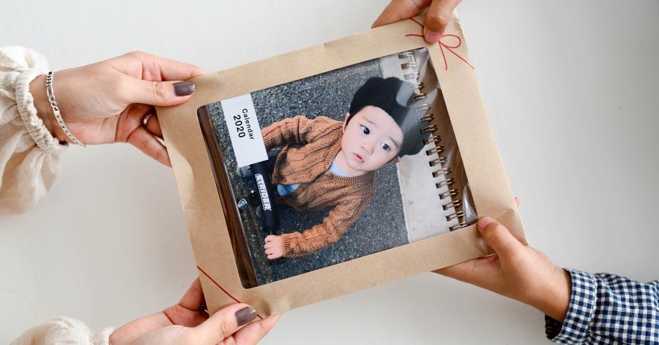 2021母の日 男の子のカレンダー プレゼント包装