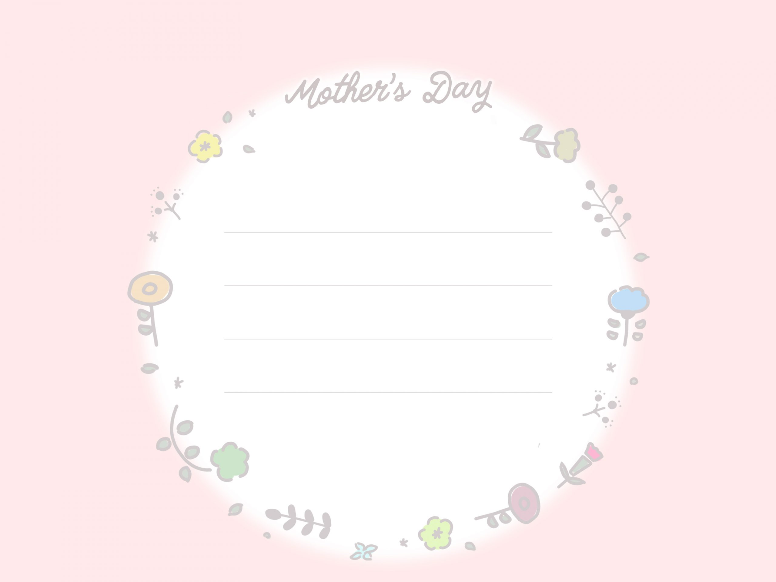 テンプレート画像 母の日のメッセージカード